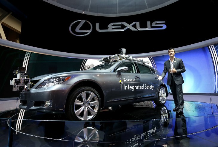 Self-driving Lexus Parked At A Presentation Of Toyota Research Institute