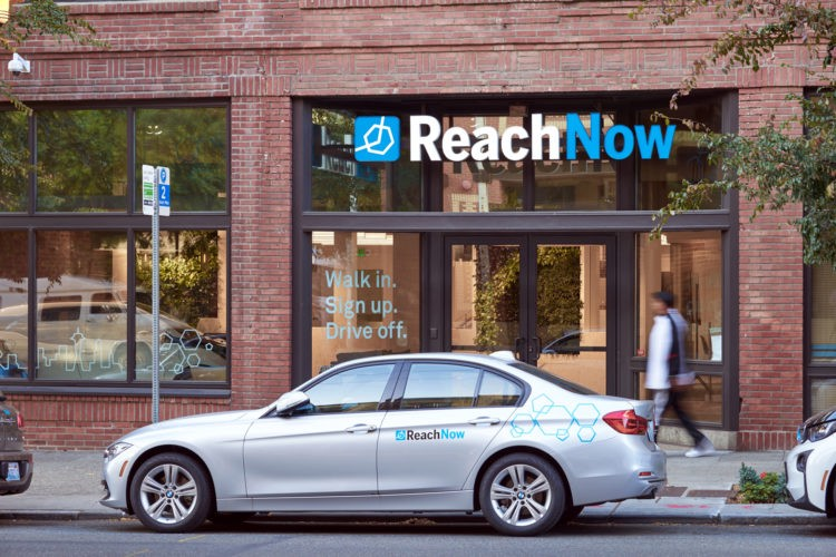 A BMW Is Parked In Front Of Carsharing Company ReachNow