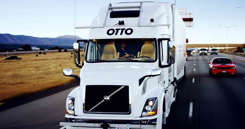 Otto's Self-driving Truck Is On A Highway