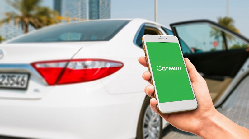 Careem App Screenshot With A White Car In Background