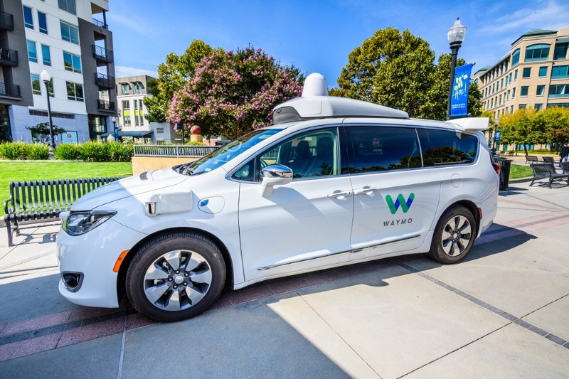 Waymo Self-driving Car Is Parked