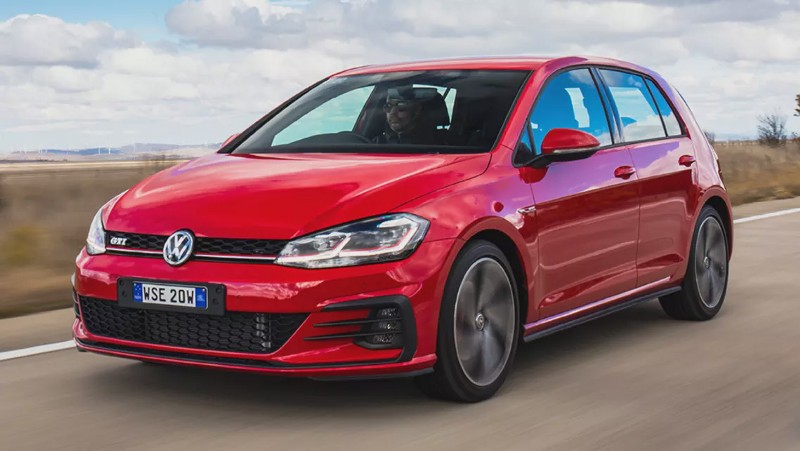 FA Red Volkswagen Golf