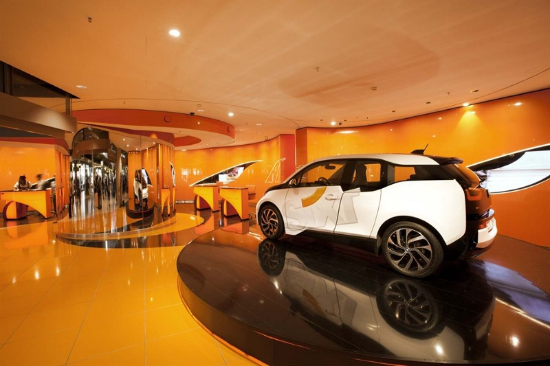 Sixt Car Rental Office With BMW I3 Vehicle