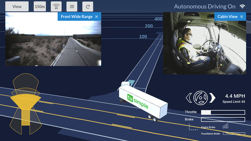TuSimple selfdriving truck