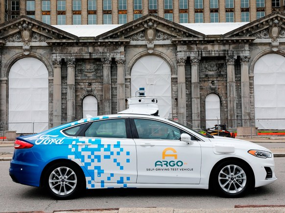 Argo's Self-driving Test Vehicle Is Parked On The Street