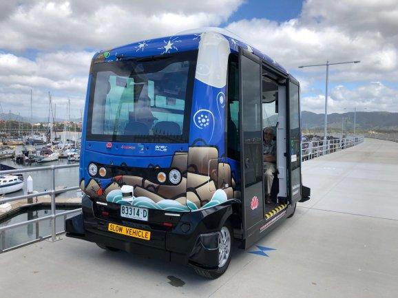 Busbot autonomous bus parked
