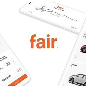 Fair Car Subscription App Screens