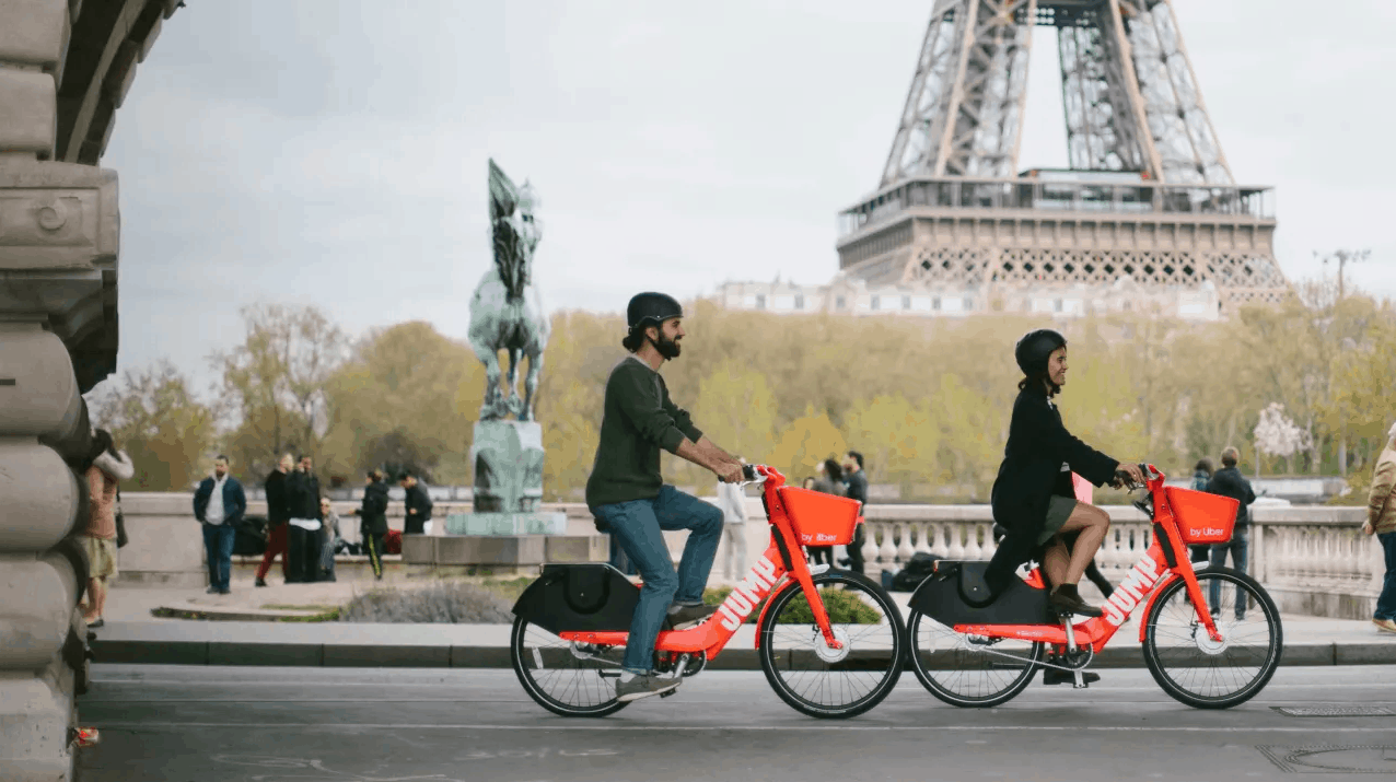 Paris bike-sharing bikes from Jump